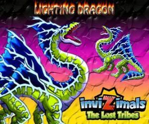 Puzle Lightning Dragon. Invizimals The Lost Tribes. Tento drak invizimal dominuje moc blesk a hrom