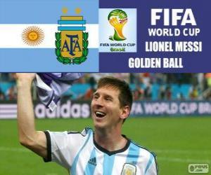Puzle Lionel Messi, Zlatý míč. Brazílie 2014 mistrovství světa ve fotbale