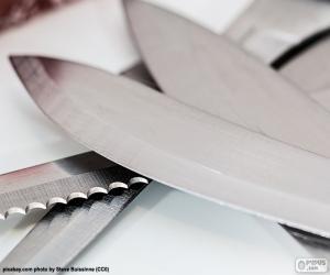 Puzle Listy z kuchyňské nože
