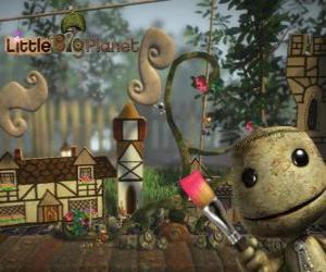 Puzle LittleBigPlanet, video hry, kde postavy jsou panenky zvané Sackboys nebo Sackgirls