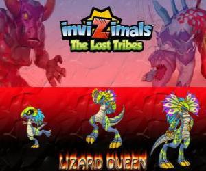 Puzle Lizard Queen, nejnovější vývoj. Invizimals The Lost Tribes. Královna plazů je krásné a moudrá