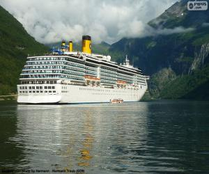 Puzle Loď, Geirangerfjord