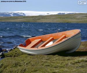 Puzle Loď na norském pobřeží