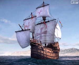 Puzle Loď Santa Maria