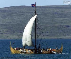 Puzle Loď Viking