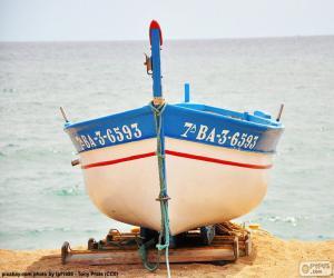 Puzle Lodi uzemnění na pláži