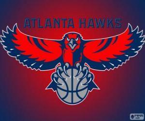 Puzle Logo Atlanta Hawks, NBA tým. Jihovýchodní Divize, Východní konference