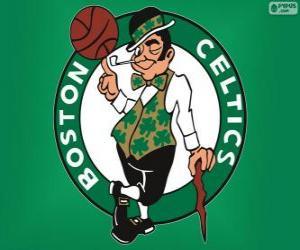 Puzle Logo Boston Celtics, NBA tým. Atlantická Divize, Východní konference