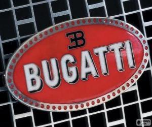 Puzle Logo Bugatti, francouzské značky italského původu