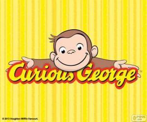 Puzle Logo Curious George, Zvedavý George