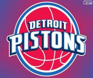 Puzle Logo Detroit Pistons, NBA tým. Centrální Divize, Východní konference