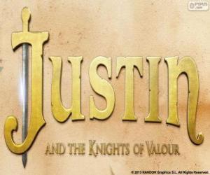 Puzle Logo filmu Justin a rytíři chrabrost