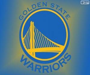 Puzle Logo Golden State Warriors, NBA tým. Pacifická Divize, Západní konference