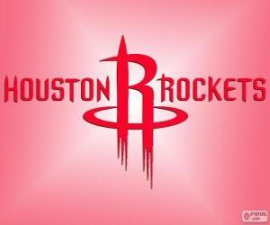 Puzle Logo Houston Rockets, NBA tým. Jihozápadní Divize, Západní konference