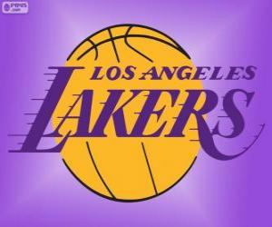 Puzle Logo Los Angeles Lakers, NBA tým, Pacifická Divize, Západní konference