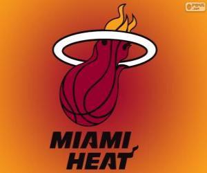 Puzle Logo Miami Heat, NBA tým. Jihovýchodní Divize, Východní konference