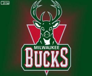 Puzle Logo Milwaukee Bucks, tým NBA. Centrální Divize, Východní konference