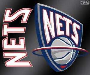 Puzle Logo New Jersey Nets, NBA tým. Atlantická Divize, Východní konference