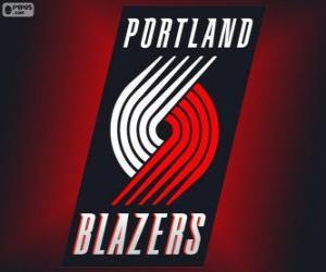 Puzle Logo Portland Trail sportovní saka, NBA tým. Severozápadní Divize, Západní konference