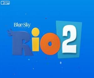 Puzle Logo Rio 2 filmu