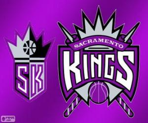 Puzle Logo Sacramento Kings, NBA tým. Pacifická Divize, Západní konference