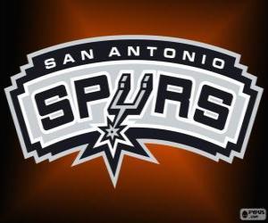 Puzle Logo San Antonio Spurs, NBA tým. Jihozápadní Divize, Západní konference