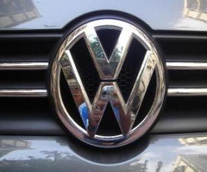 Puzle Logo Volkswagen, německý vůz značky