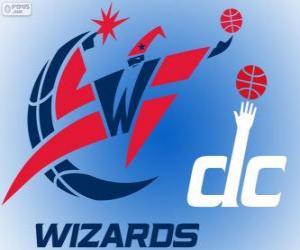 Puzle Logo Washington Wizards, NBA tým. Jihovýchodní Divize, Východní konference