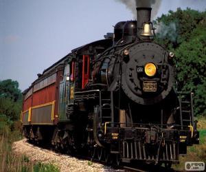 Puzle Lokomotiva parní vlak