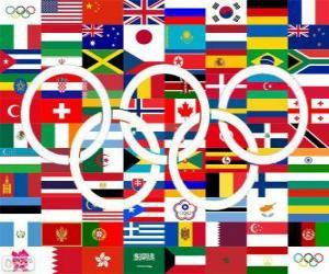 Puzle Londýn 2012 zemí medailistů
