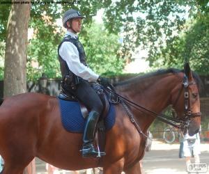 Puzle Londýnské policie na koních