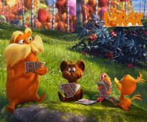 Puzle Lorax hrát se zvířaty z údolí Trufula