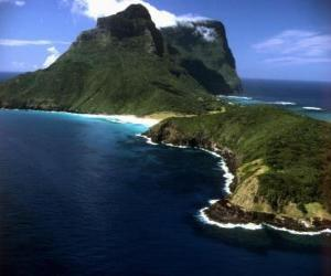 Puzle Lord Howe ostrovy tohoto souostroví je například generovat soubor izolovaných oceánských ostrovů podmořské sopečné činnosti. Austrálie.