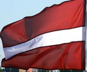Puzle Lotyšská vlajka