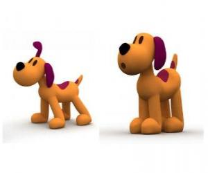 Puzle Loula pes je maskot Pocoyo