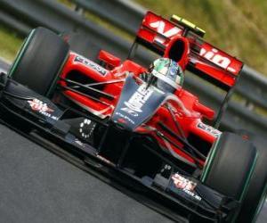 Puzle Lucas di Grassi - Virgin - 2010 maďarské Grand Prix