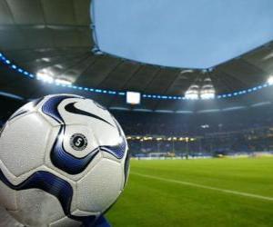 Puzle Míč v fotbalový stadion