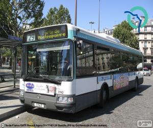 Puzle Městské autobusy z Paříže