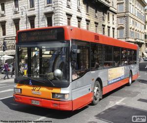 Puzle Městský autobus Řím