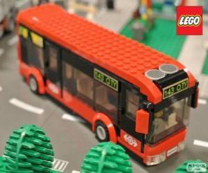 Puzle Městský autobus Lego