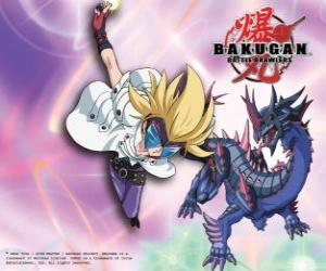Puzle Maškarní a jeho Bakugan Darkus Hydranoid