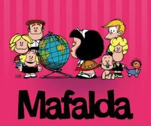 Puzle Mafalda a přátelé