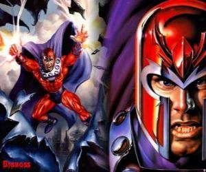 Puzle Magneto, hlavní protivník z X-Men, supervillain s jeho mutanty chtějí ovládnout svět
