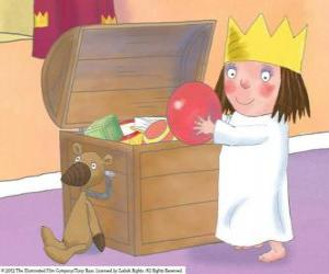 Puzle Malá princezna s její hračky