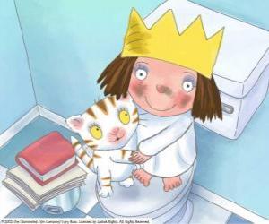 Puzle Malá princezna se svou kočkou Puss
