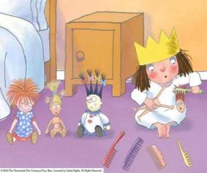 Puzle Malá princezna z jejich panenky