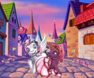 Puzle Malé poníky ve městě