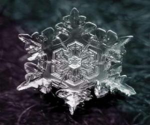 Puzle Malé sněhové vločky formě krystalků ledu