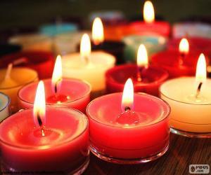 Puzle Malé svíčky, vánoční