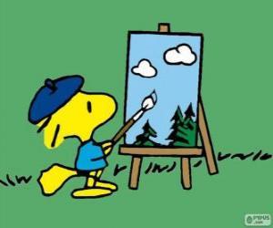 Puzle Malíř Woodstock